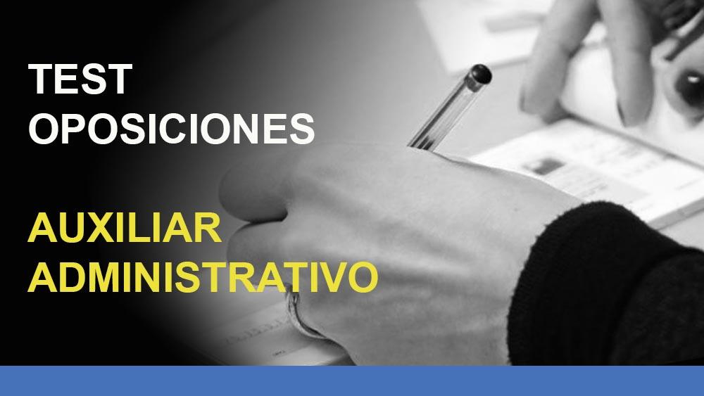test-oposiciones-auxiliar-administrativo